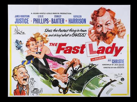 Lot #198 - THE FAST LADY (1962) - UK Quad Poster, 1962