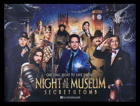 Lot #202 - NIGHT AT THE MUSEUM: SECRET OF THE TOMB (2014) - Autographed Poster, 2014