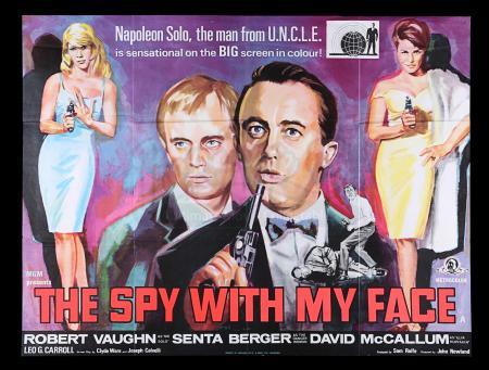 Lot #206 - SPY WITH MY FACE (1965) - UK Quad Poster, 1965