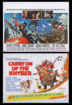 Lot #207 - THE BLUE MAX (1966) AND CARRY ON UP THE KHYBER (1968) - Two UK Quad Poster, 1966-68