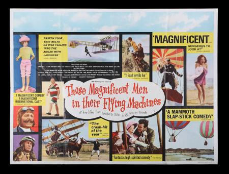 Lot #208 - THOSE MAGNIFICENT MEN IN THEIR FLYING MACHINES (1965) - UK Quad Poster, 1965