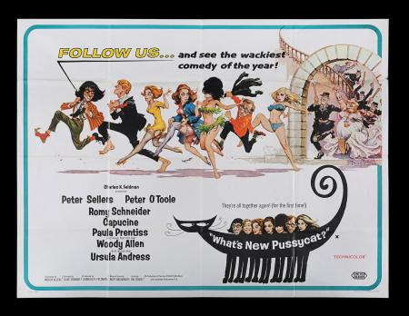 Lot #209 - WHAT'S NEW PUSSYCAT? (1965) - UK Quad Poster, 1965