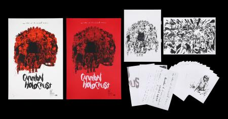 "Lot #210 - CANNIBAL HOLOCAUST (1980) - Jock Collection: Two Mondo Posters ""Cannibal Holocaust"" - Regular and Variant, Original Artwork and Sketches, 2015"