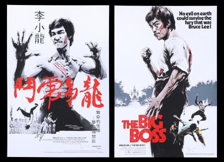 Lot #211 - ENTER THE DRAGON (1973) AND THE BIG BOSS (1973) - Jock Collection: Two Bruce Lee Mondo Posters, 2016/18