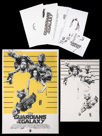 Lot #213 - GUARDIANS OF THE GALAXY (2014) - Jock Collection: Mondo Poster with Original Preliminary Artwork, 2016