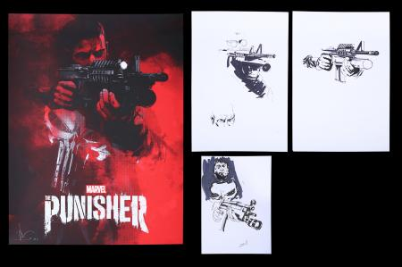 Lot #216 - THE PUNISHER (TV SERIES 2017) - Jock Collection: Mondo Poster with Original Preliminary Artwork, 2017