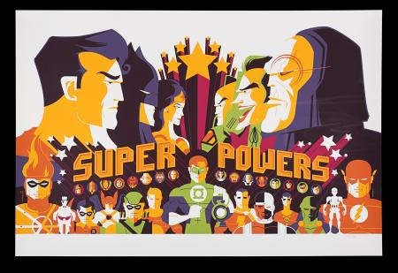 "Lot #269 - SUPER POWERS TOY COLLECTION - Mondo Poster - ""Super Powers"", 2011"