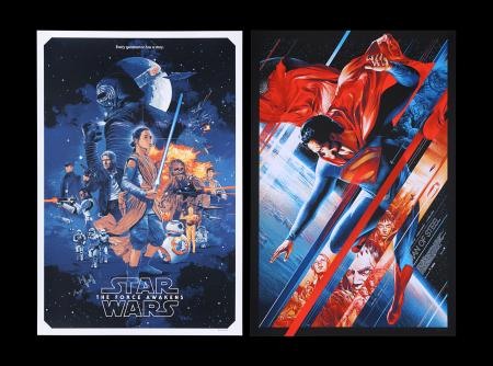 Lot #270 - SUPERMAN: MAN OF STEEL (2013) & STAR WARS: THE FORCE AWAKENS (2015) - Two Mondo Posters, 2013-15
