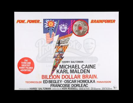 Lot #272 - BILLION DOLLAR BRAIN (1967) - UK Quad Poster, 1967