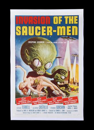 Lot #325 - INVASION OF THE SAUCER-MEN (1957) - US One-Sheet Poster, 1957