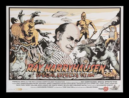 Lot #328 - RAY HARRYHAUSEN: SPECIAL EFFECTS TITAN (2012) - UK Quad Poster, 2012