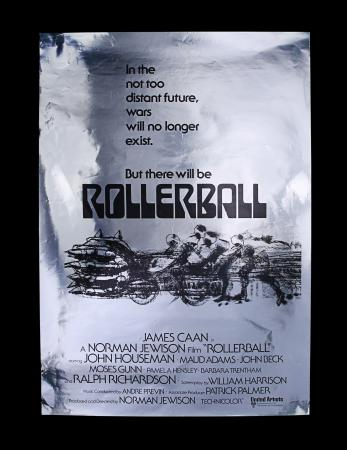 Lot #329 - ROLLERBALL (1975) - US One-Sheet Poster - Foil Advance, 1975