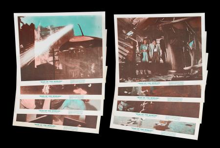 Lot #340 - WAR OF THE WORLDS (1953) - Set of Eight British Front of House Lobby Cards, 1965 Re-Release