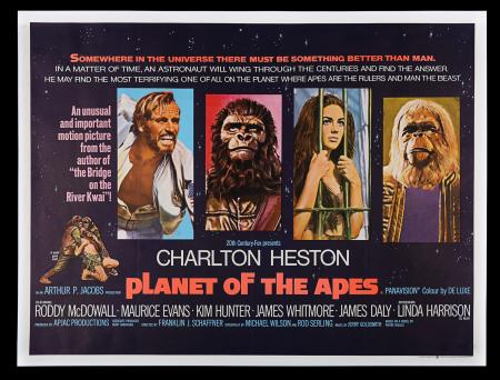 Lot #341 - PLANET OF THE APES (1968) - UK Quad Poster, 1968