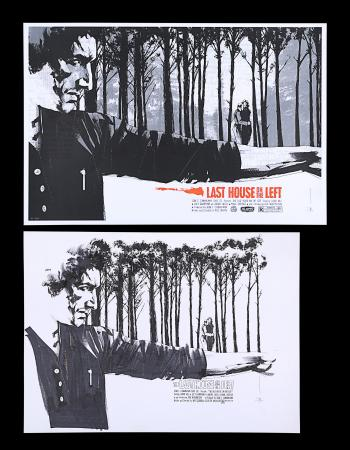 Lot #215 - THE LAST HOUSE ON THE LEFT (1972) - Jock Collection: Mondo Poster with Original Preliminary Artwork, 2012