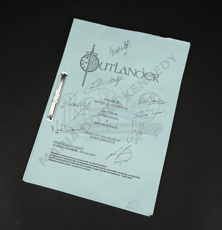 Lot #6 - Outlander Charity Script Auction - Maria Doyle Kennedy's Cast Autographed Script - Episode 505 'Perpetual Adoration' Blue Draft