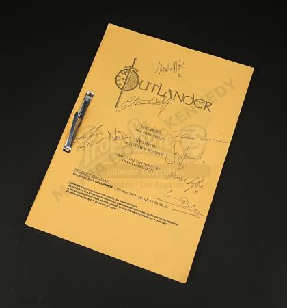 Lot #12 - Outlander Charity Script Auction - Maria Doyle Kennedy's Cast Autographed Script - Episode 501 'The Fiery Cross' Goldenrod Draft