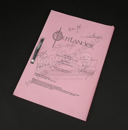Lot #13 - Outlander Charity Script Auction - Maria Doyle Kennedy's Cast Autographed Script - Episode 506 'Better To Marry Than Burn' Pink Draft