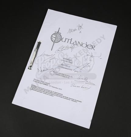 Lot #14 - Outlander Charity Script Auction - Maria Doyle Kennedy's Cast Autographed Script - Episode 511 'Journeycake'