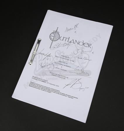 Lot #15 - Outlander Charity Script Auction - Maria Doyle Kennedy's Cast Autographed Script - Episode 512 'What Dreams May Come'