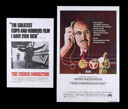 Lot #2 - FRENCH CONNECTION (1971), CONVERSATION (1974) - UK Double Crown and US One-Sheet, 1971, 1974