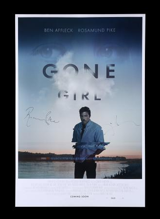 Lot #3 - GONE GIRL (2014) - Poster Autographed by David Fincher and Rosamund Pike