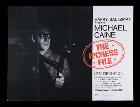 Lot #4 - IPCRESS FILE (1965) - UK Quad, 1965