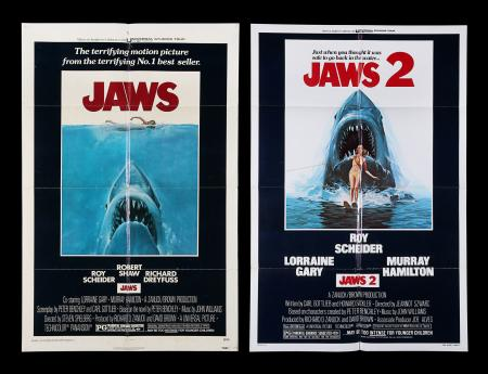 Lot #8 - JAWS (1975), JAWS 2 (1978) - Two US One-Sheets, 1975, 1978