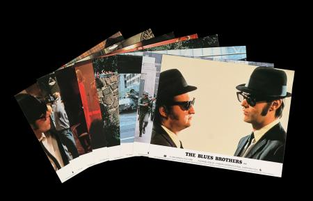 Lot #39 - THE BLUES BROTHERS (1980) - Eight British Front of House Lobby Cards, 1980