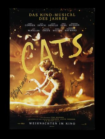 Lot #41 - CATS (2019) - Poster, 2019, Autographed by Jason Derulo and Francesca Hayward