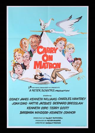 Lot #93 - CARRY ON MATRON (1972) - UK One-Sheet, 1972