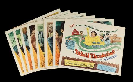 Lot #98 - THE TITFIELD THUNDERBOLT (1953) - Eight US Lobby Cards, 1953