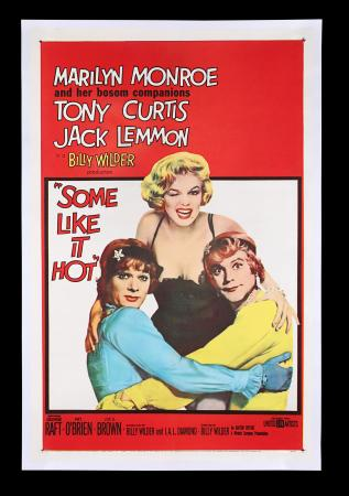 Lot #99 - SOME LIKE IT HOT (1959) - US One-Sheet, 1960