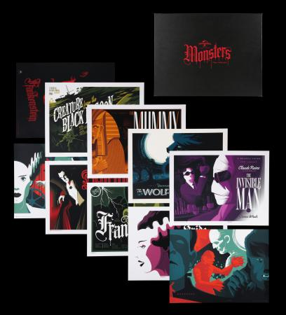 Lot #187 - UNIVERSAL MONSTERS (2013) - Tom Whalen Limited Edition Portfolio, 2013
