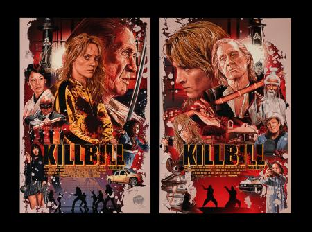 Lot #196 - KILL BILL: VOLUME I (2003), KILL BILL: VOLUME II (2004) - Two Mondo Posters, 2019