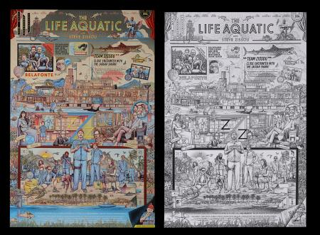 Lot #197 - THE LIFE AQUATIC (2004) - Two Mondo Posters, 2020