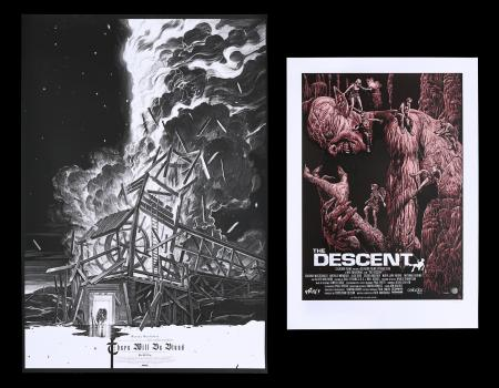 Lot #201 - THERE WILL BE BLOOD (2007), THE DESCENT (2005) - Two Mondo Posters, 2013, 2016