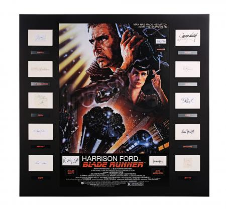 Lot #215 - BLADE RUNNER (1982) - Poster, 1982, Autographed by Ridley Scott, Harrison Ford and Others