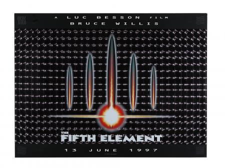 Lot #219 - THE FIFTH ELEMENT (1997) - Lenticular UK Quad, 1997