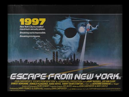 Lot #236 - ESCAPE FROM NEW YORK (1981) - UK Quad, 1981