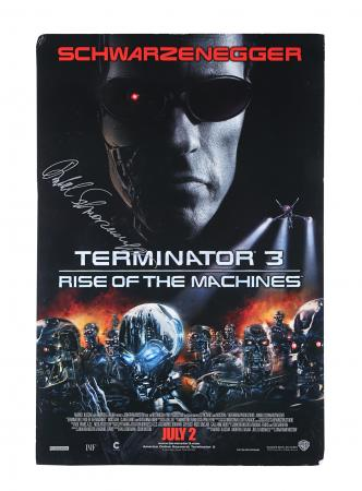 Lot #243 - TERMINATOR 3 : RISE OF THE MACHINES (2003) - US One-Sheet, 2003 Autographed by Arnold Schwarzenegger