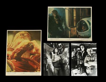Lot #245 - ALIEN (1979) - Two Lobby Cards and Two Stills, 1979