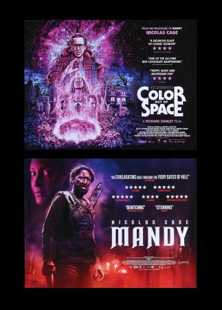 Lot #260 - MANDY (2018), COLOR OUT OF SPACE (2019) - Two UK Quads, 2018, 2019