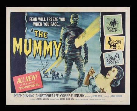 Lot #261 - THE MUMMY (1959) - US Half Sheet, 1959
