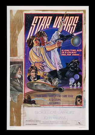 "Lot #285 - STAR WARS: A NEW HOPE (1977) - US One-Sheet Style ""D"" Poster, 1978"