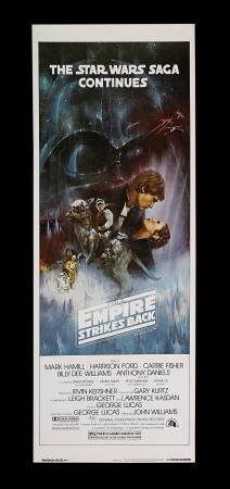Lot #307 - STAR WARS: THE EMPIRE STRIKES BACK (1980) - Carter-Jones Collection: US Insert (Style A), 1980