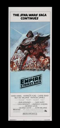 Lot #308 - STAR WARS: THE EMPIRE STRIKES BACK (1980) - Carter-Jones Collection: US Insert (Style B), 1980