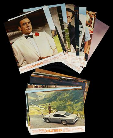Lot #378 - GOLDFINGER (1964) - Carter-Jones Collection: 24 French Lobby Cards, 1964