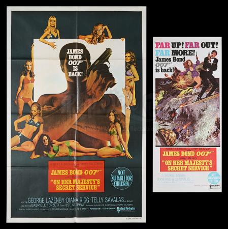 Lot #401 - ON HER MAJESTY'S SECRET SERVICE (1969) - Carter-Jones Collection: Australian One-Sheet and Daybill, 1969