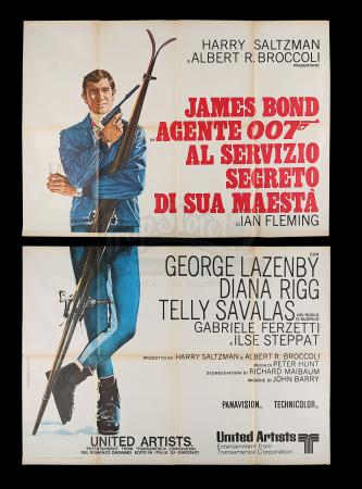 Lot #403 - ON HER MAJESTY'S SECRET SERVICE (1969) - Carter-Jones Collection: Italian Two-Panel (4-Fogli), 1969